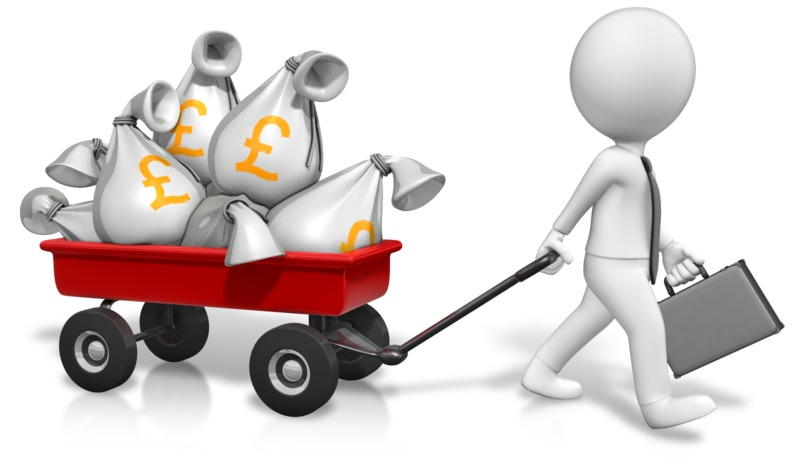 Clipart - Wagon Full Of Pounds