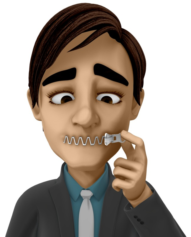 Clipart - Zip Your Mouth