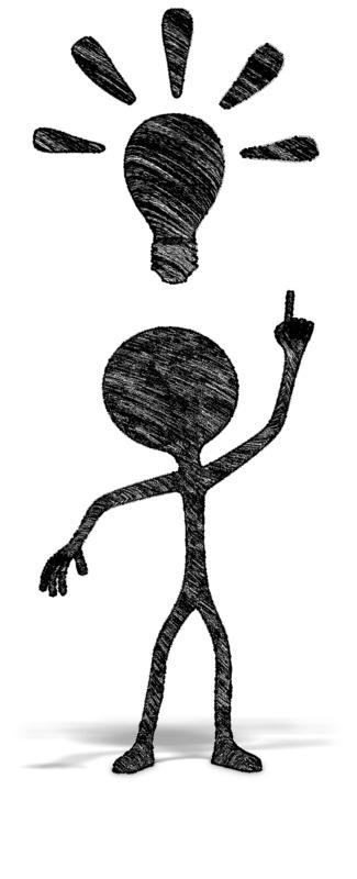Clipart - Drawn Figure Bright Idea