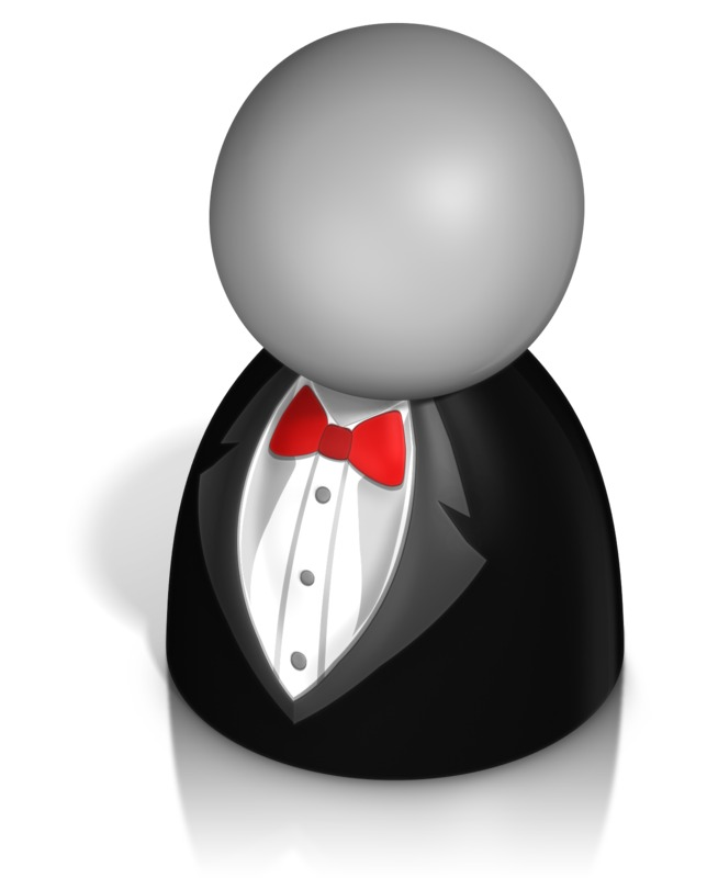Clipart - Pawn Figure In Tux
