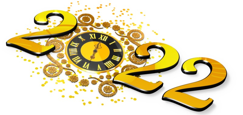 This Presentation Clipart shows a preview of New Years Elegant Clock