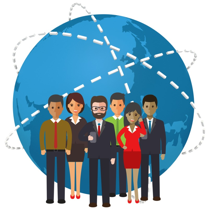 Clipart - World People Connection