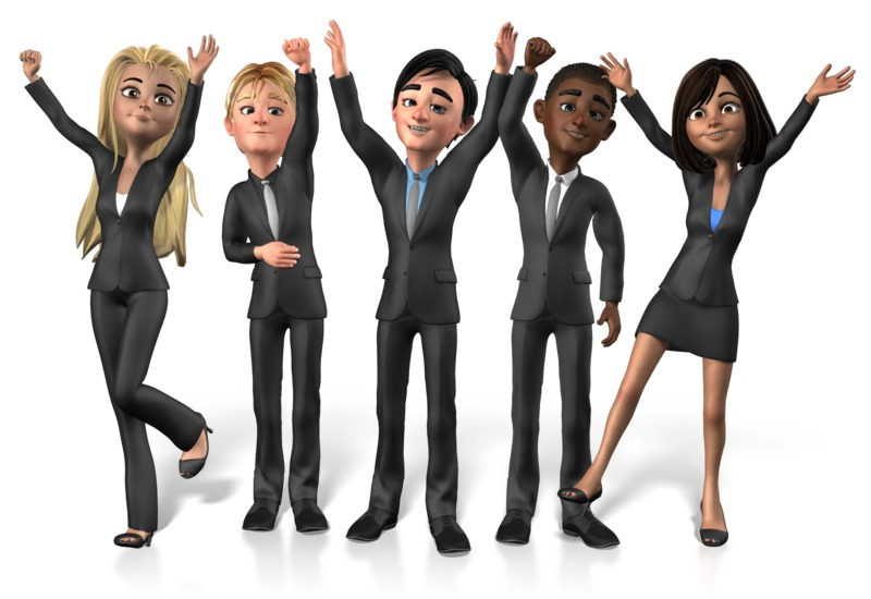 Clipart - Group Buisness People Cheer