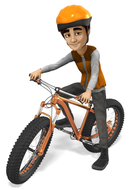 Clipart - Grant Fat Bike Cyclist