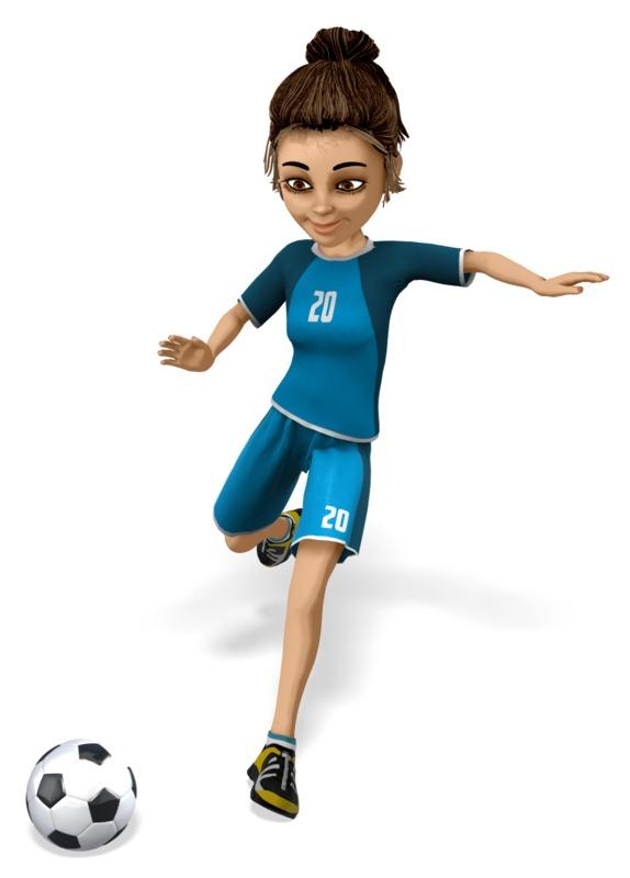 Clipart - Lainee Soccer Kick
