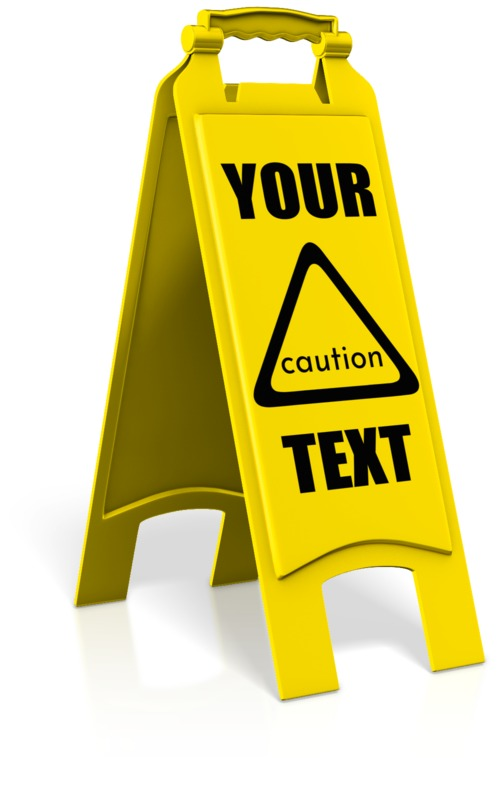 This Presentation Clipart shows a preview of Caution Floor Sign
