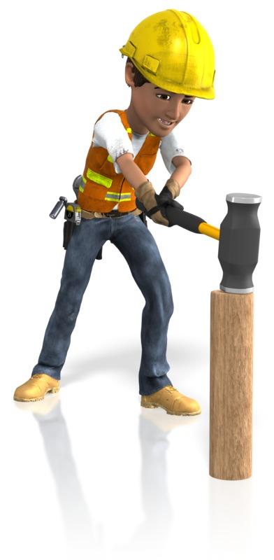 Clipart - Construction Guy Sledgehammer