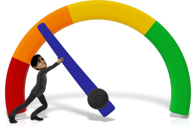 Clipart - Businessman Stopping Gauge