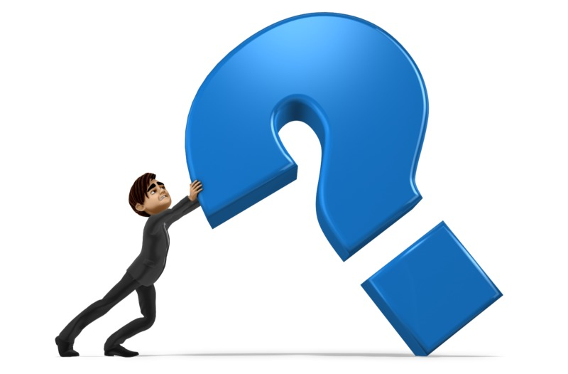 Clipart - Holding Up Question Mark