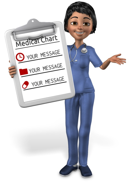 This Presentation Clipart shows a preview of Nurse Showing Chart