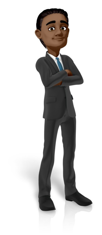 Clipart - Brad Standing Arms Folded
