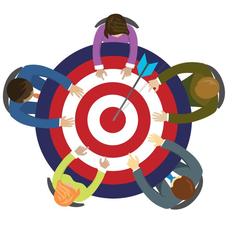Clipart - Bullseye Business Table
