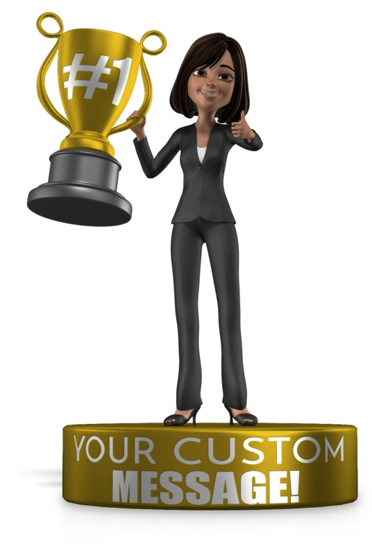 This Presentation Clipart shows a preview of Woman Trophy Award
