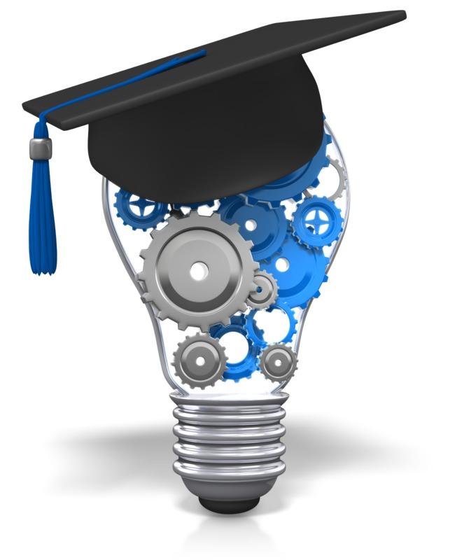 Clipart - Lightbulb Gears Education