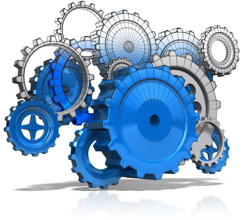 Clipart - Wireframe Gears