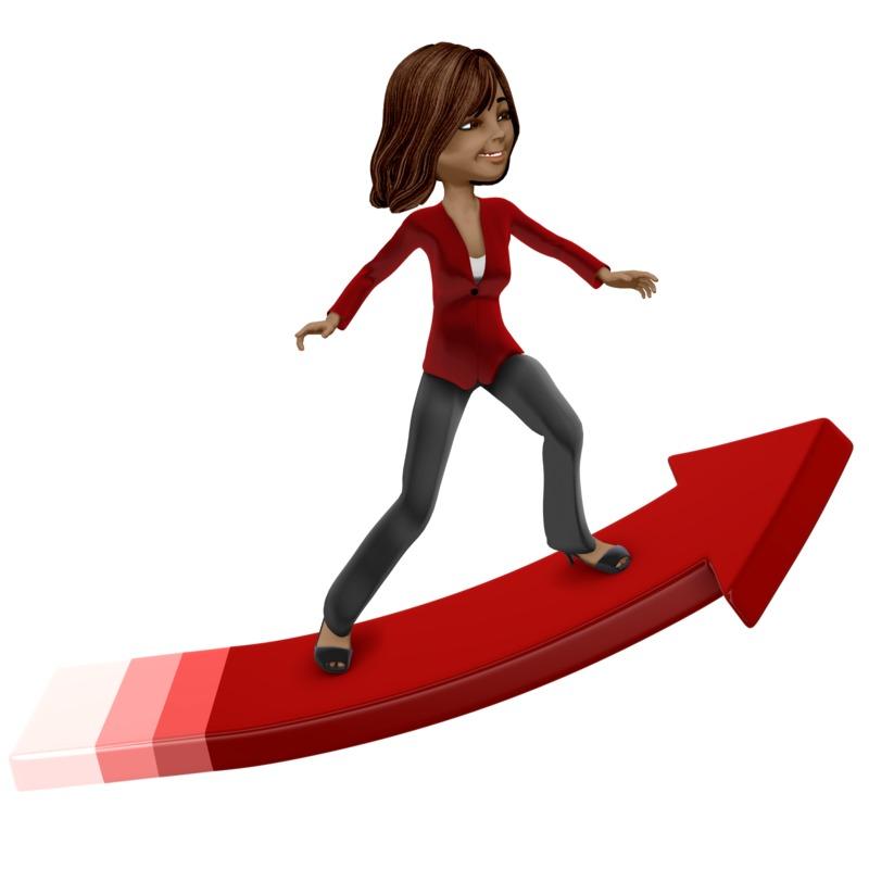 Clipart - Talia Surfing Arrow