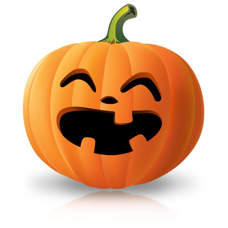 Clipart - Simple Laughing Pumpkin