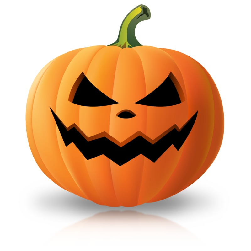 Clipart - Simple Scary Pumpkin