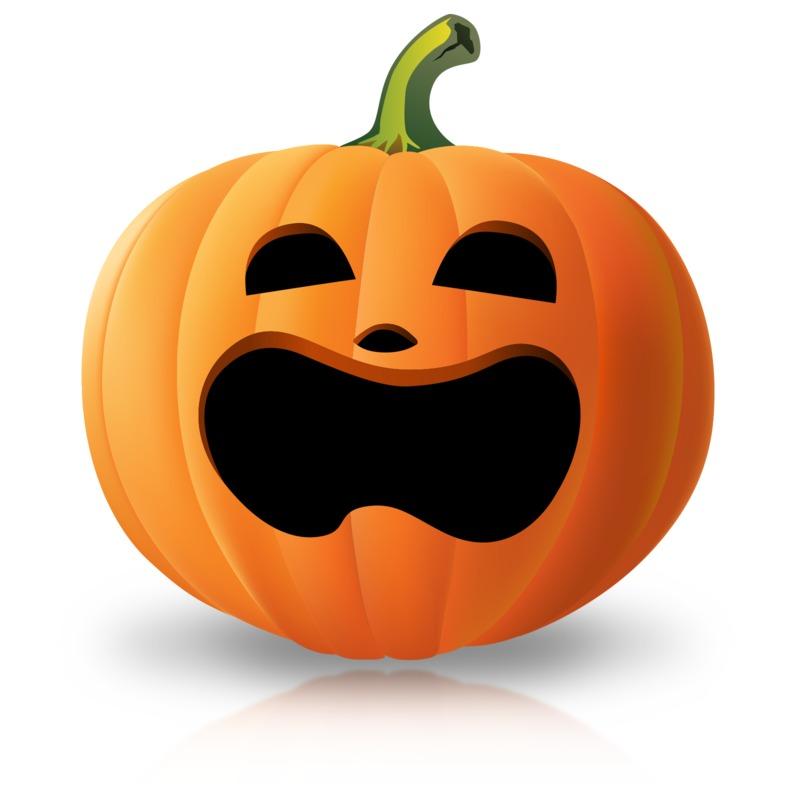 Clipart - Simple Surprised Pumpkin