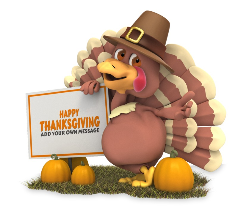 This Presentation Clipart shows a preview of Pilgrim Turkey Sign