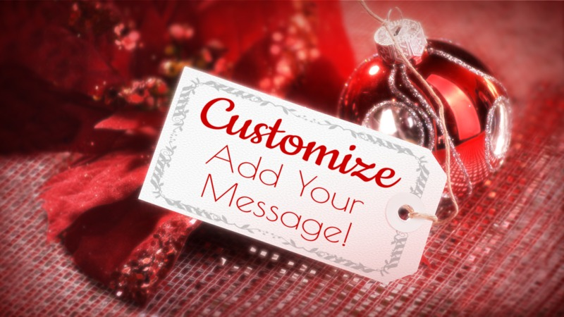 This Presentation Clipart shows a preview of Christmas Tag Custom