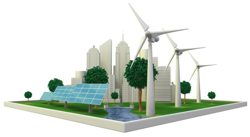 Clipart - Renewable Energy City