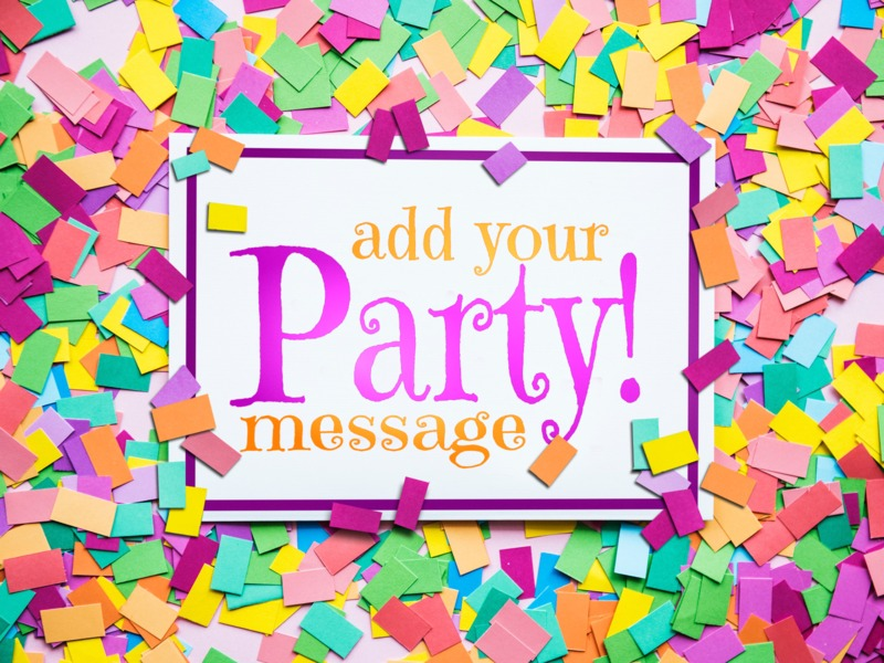 This Presentation Clipart shows a preview of Confetti Card