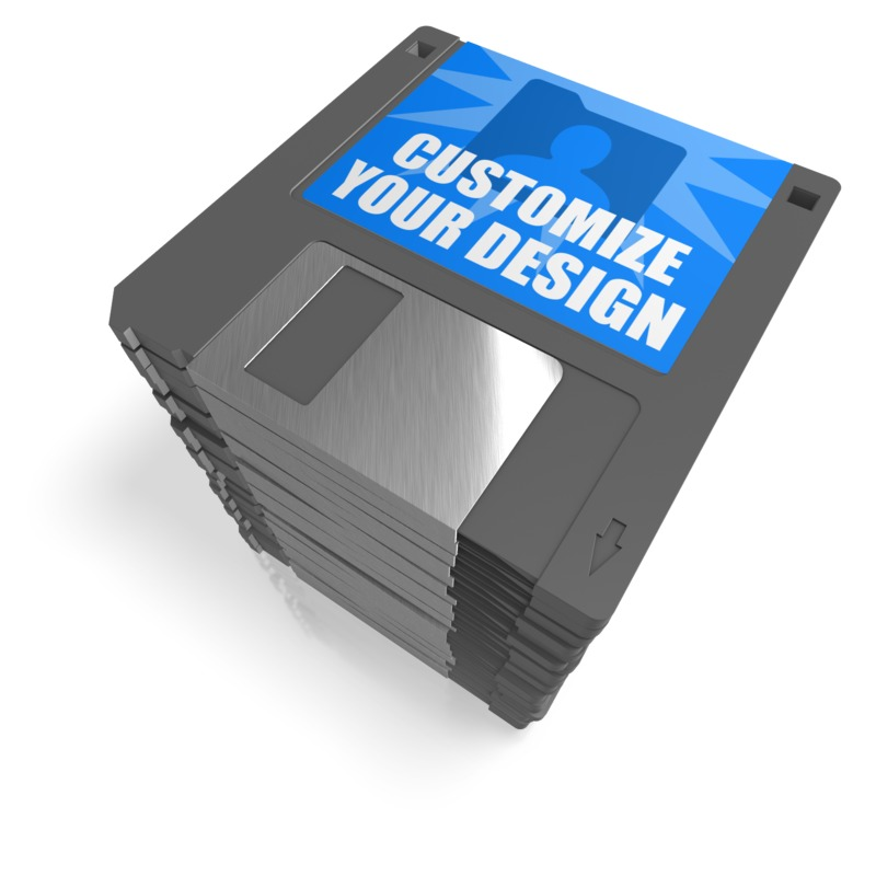 This Presentation Clipart shows a preview of Floppy Disk Stack Custom