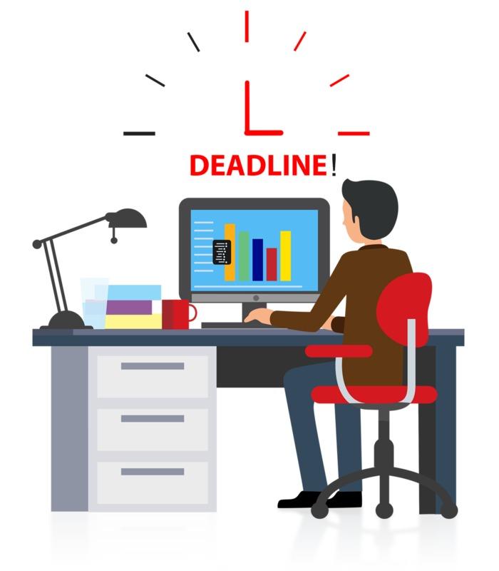 Clipart - Office Deadline Computer
