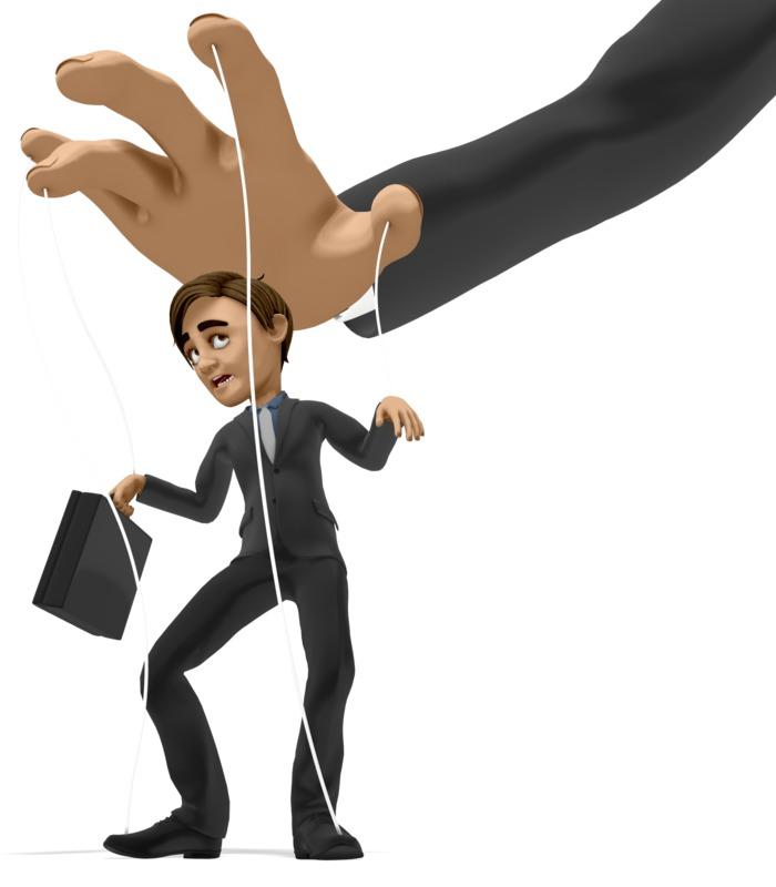 Clipart - Business Man Puppet