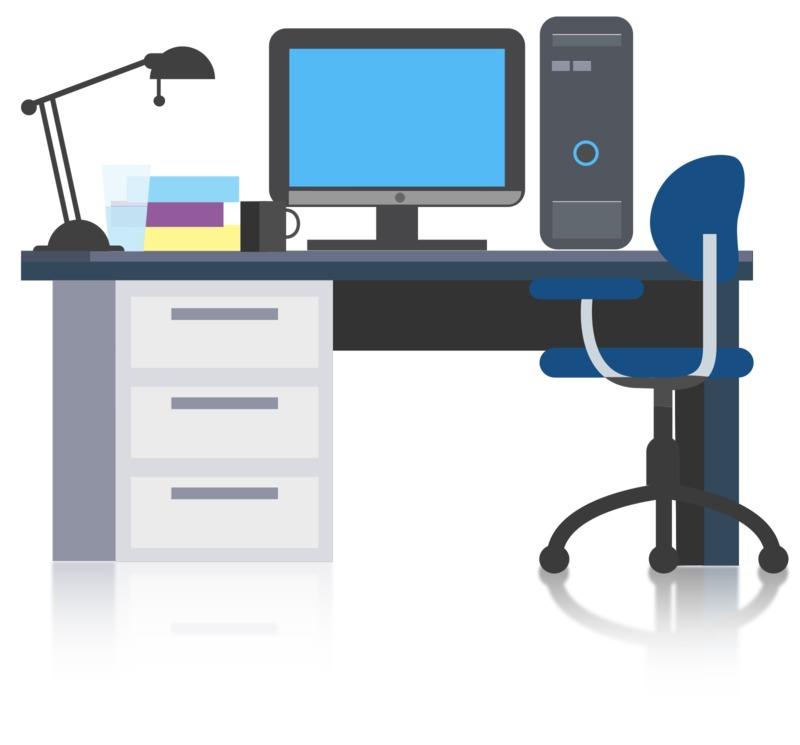 Clipart - Simple Office Desk