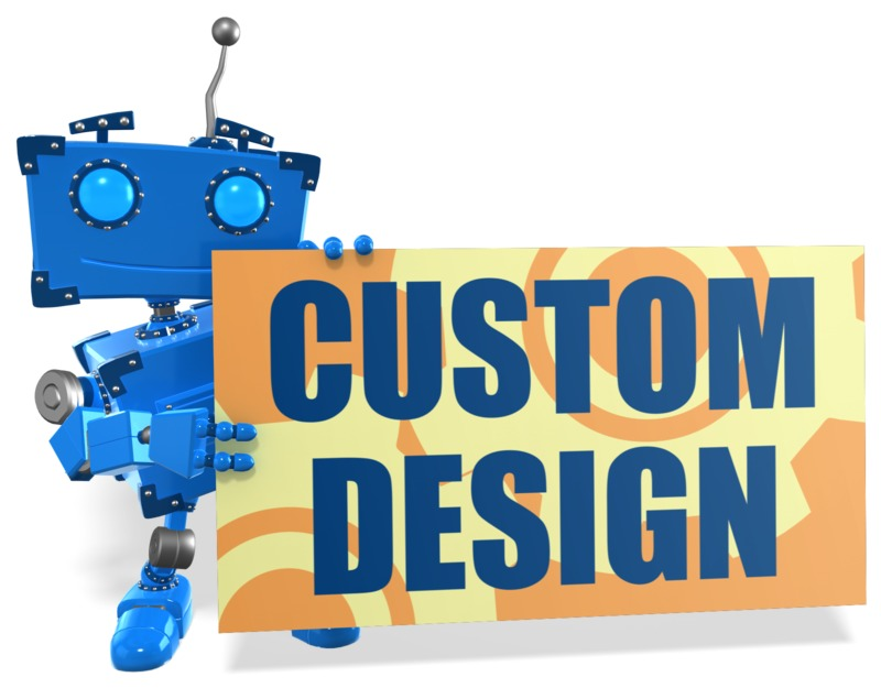This Presentation Clipart shows a preview of Boxy Robot Sign Custom