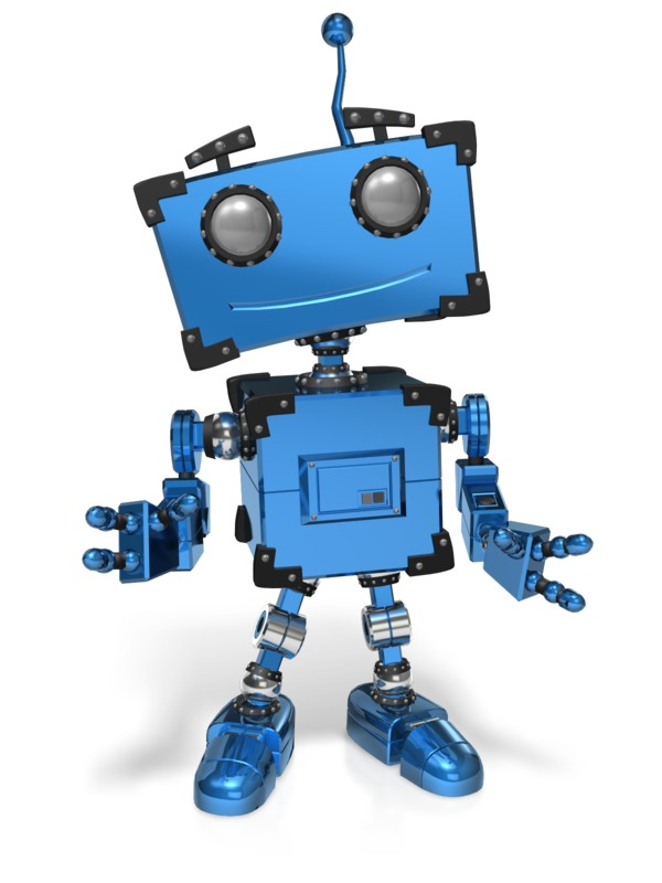 Clipart - Boxy Robot Standing Pose
