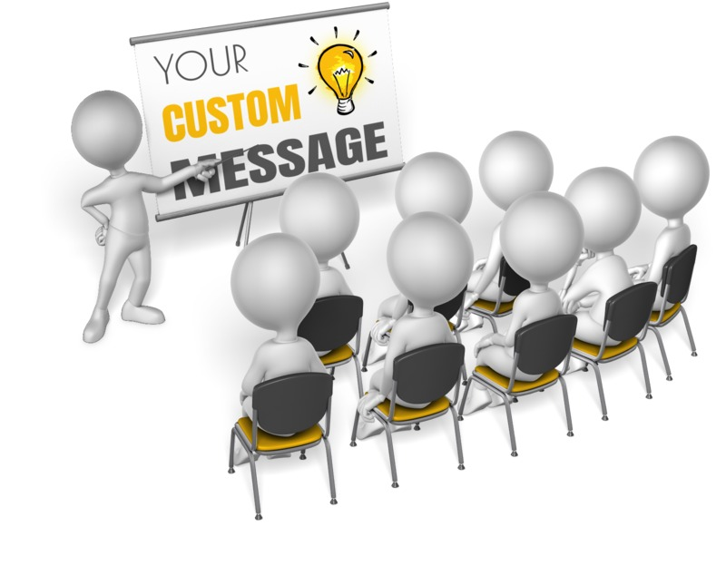 This Presentation Clipart shows a preview of Presenting To Audience