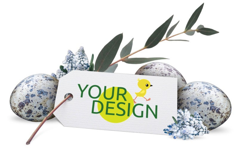 This Presentation Clipart shows a preview of Flowers Eggs Custom