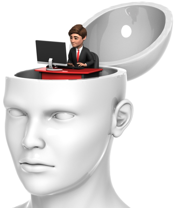 Clipart - Businessman Inside Head