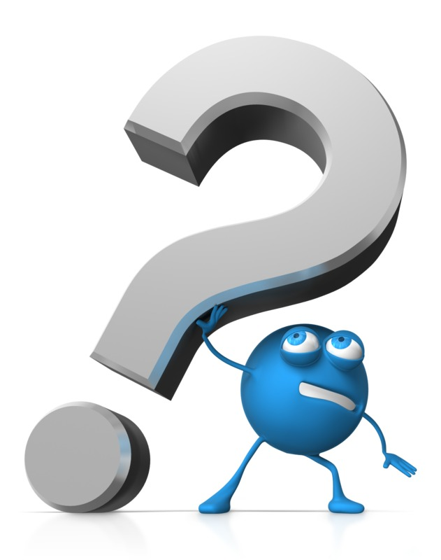 Clipart - Roundy Holding Up Question Mark