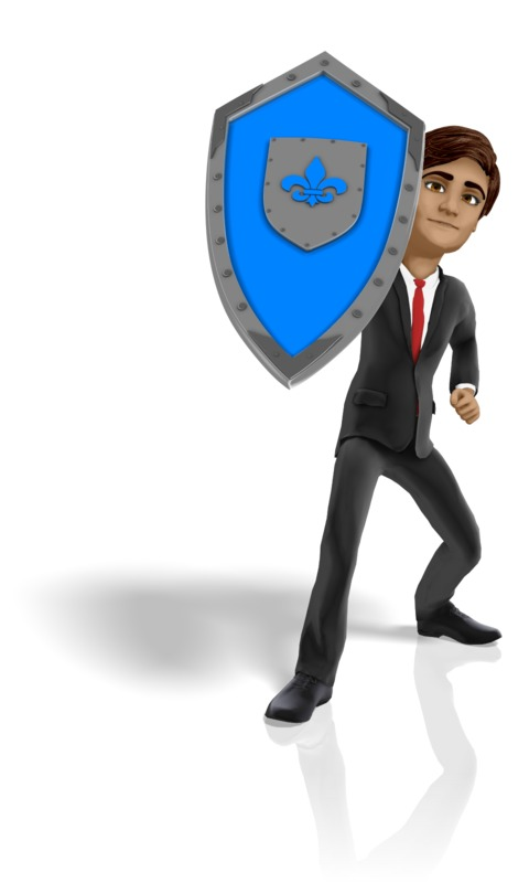 Clipart - Businessman Shield Protect