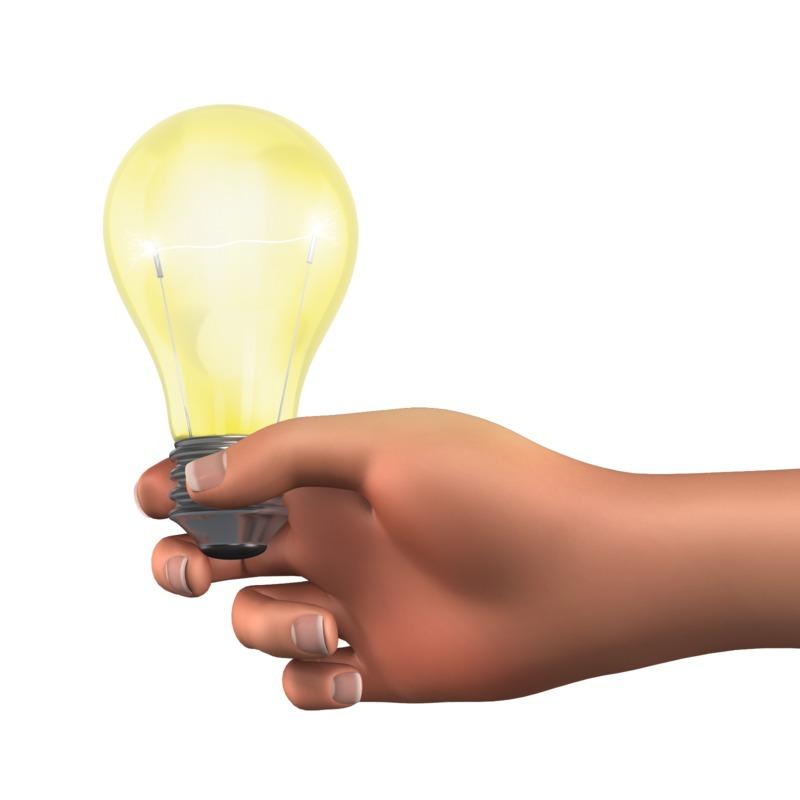 Clipart - Holding Light Bulb Solution