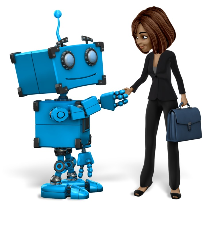 Clipart - Robot Talia Business Handshake