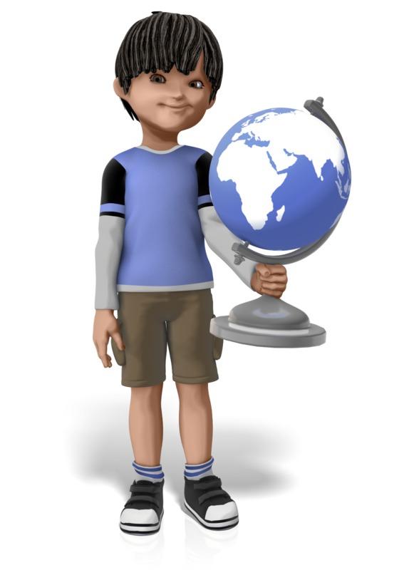Clipart - James Holding Globe