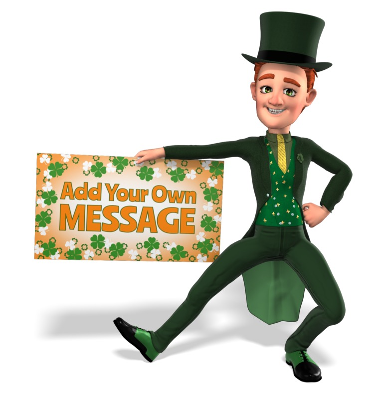 This Presentation Clipart shows a preview of Irish Tuxedo Man Sign Custom