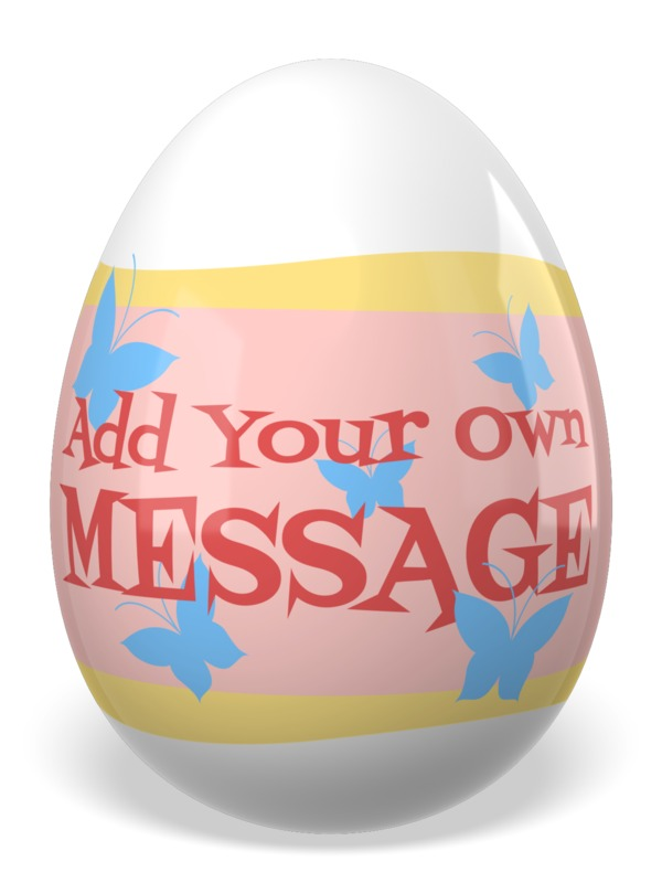 This Presentation Clipart shows a preview of Easter Painted Egg Custom