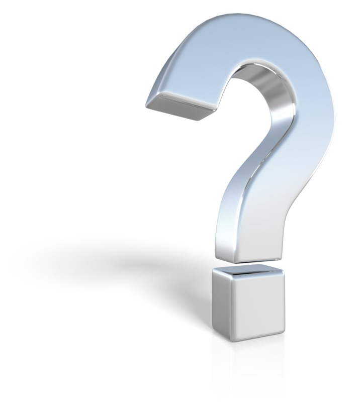 Clipart - Chrome Question Mark Symbol