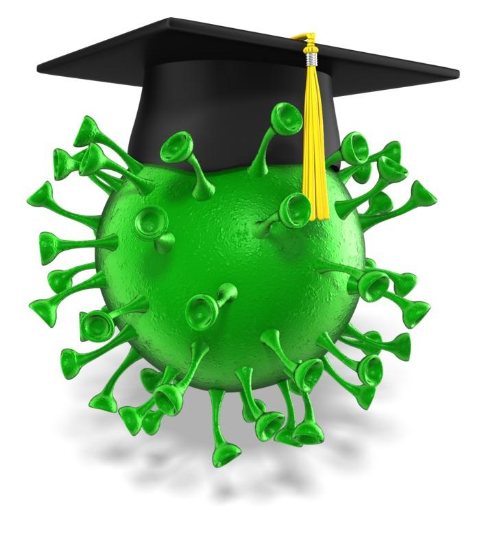 Clipart - Corovavirus Graduation Cap