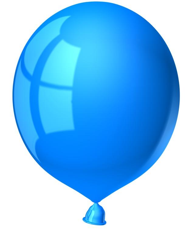 Clipart - Single Blue Balloon