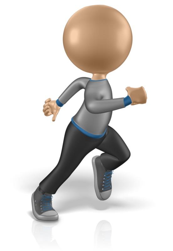 Clipart - Guy Figure Running Pose