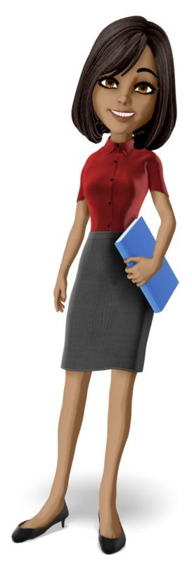 Clipart - Teacher Holding Book