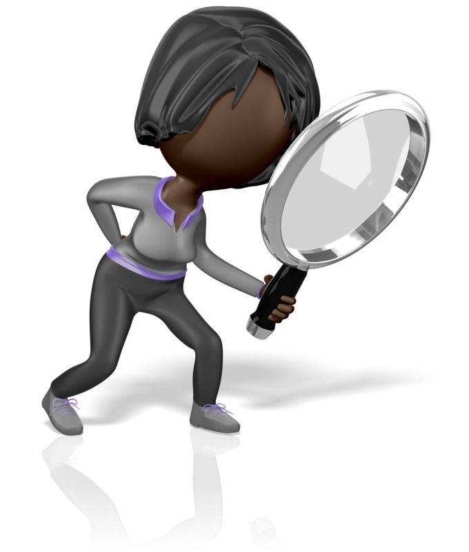 Clipart - Stickwoman Search Clues