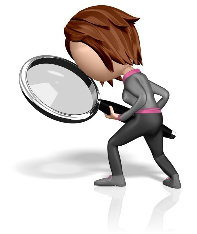 Clipart - Searching Stickwoman